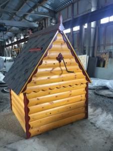 домик колодца имитация бруса